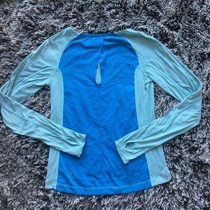 Lululemon long sleeve shirt blue very soft sz 4 XS